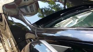 Mercedes-AMG C43 Black After Paintless Dent Removal by iDentify PDR