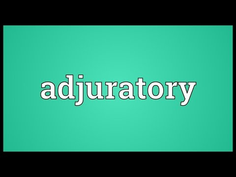 Header of adjuratory