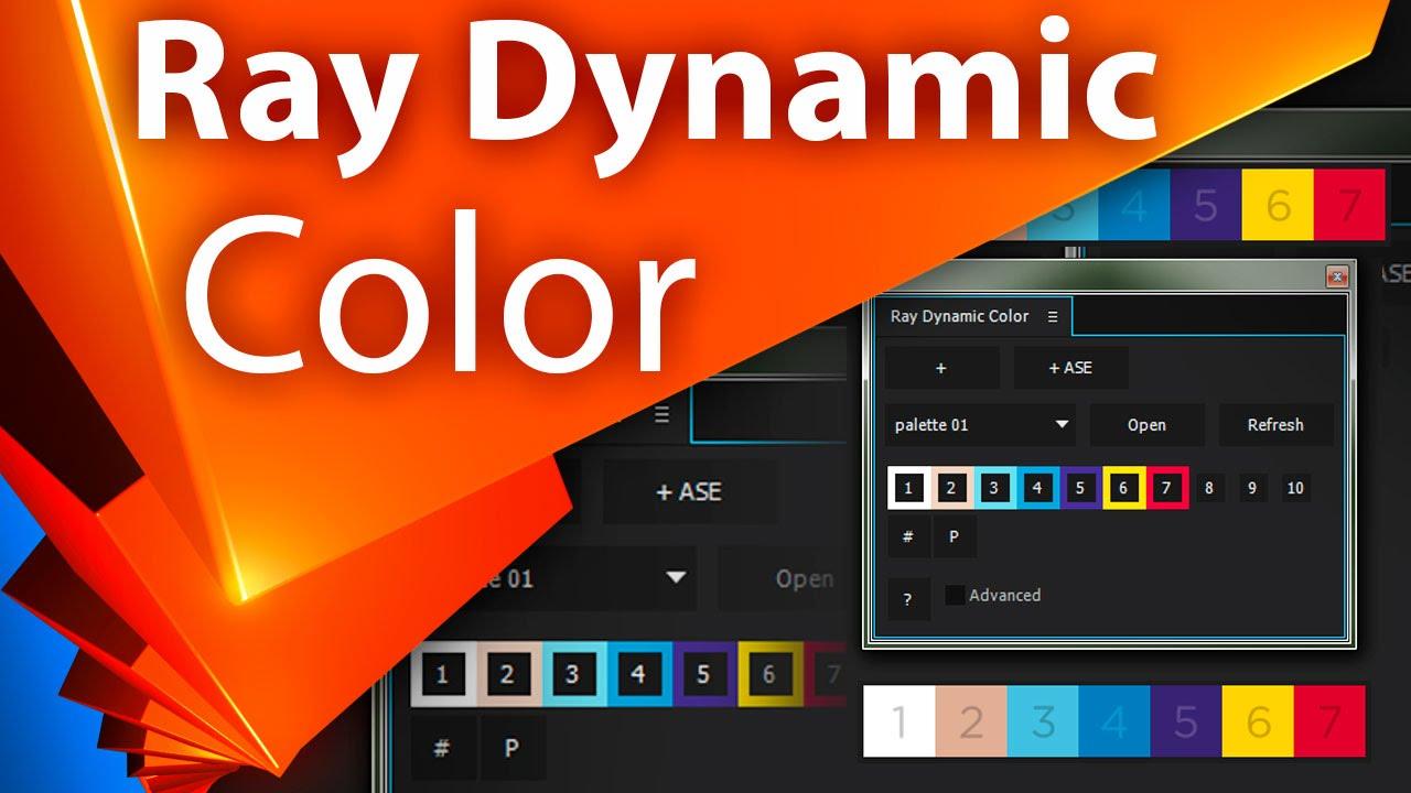 Библиотека цветов. Обзор Ray Dynamic Color для After Effects - AEplug 077