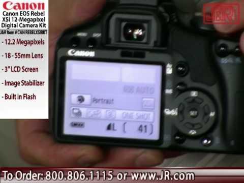 Canon EOS Rebel XSi Digital Camera Kit -from JR com