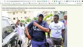 EFCC vs FAYOSE CLASH : I will not die in custody!