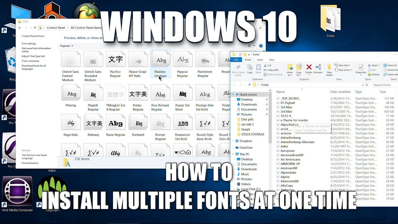 How to install multiple fonts at once, quick and easy