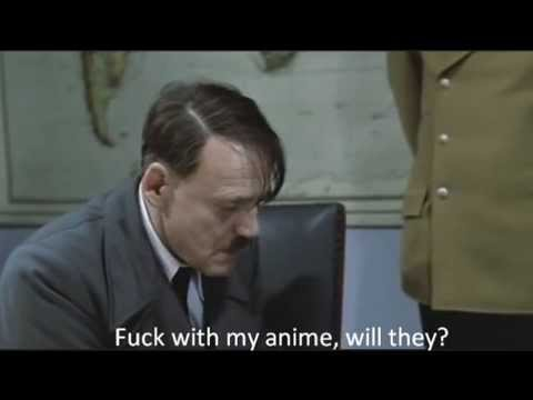 Hitler finds out about the end to Rihoko's arc from Amagami SS.