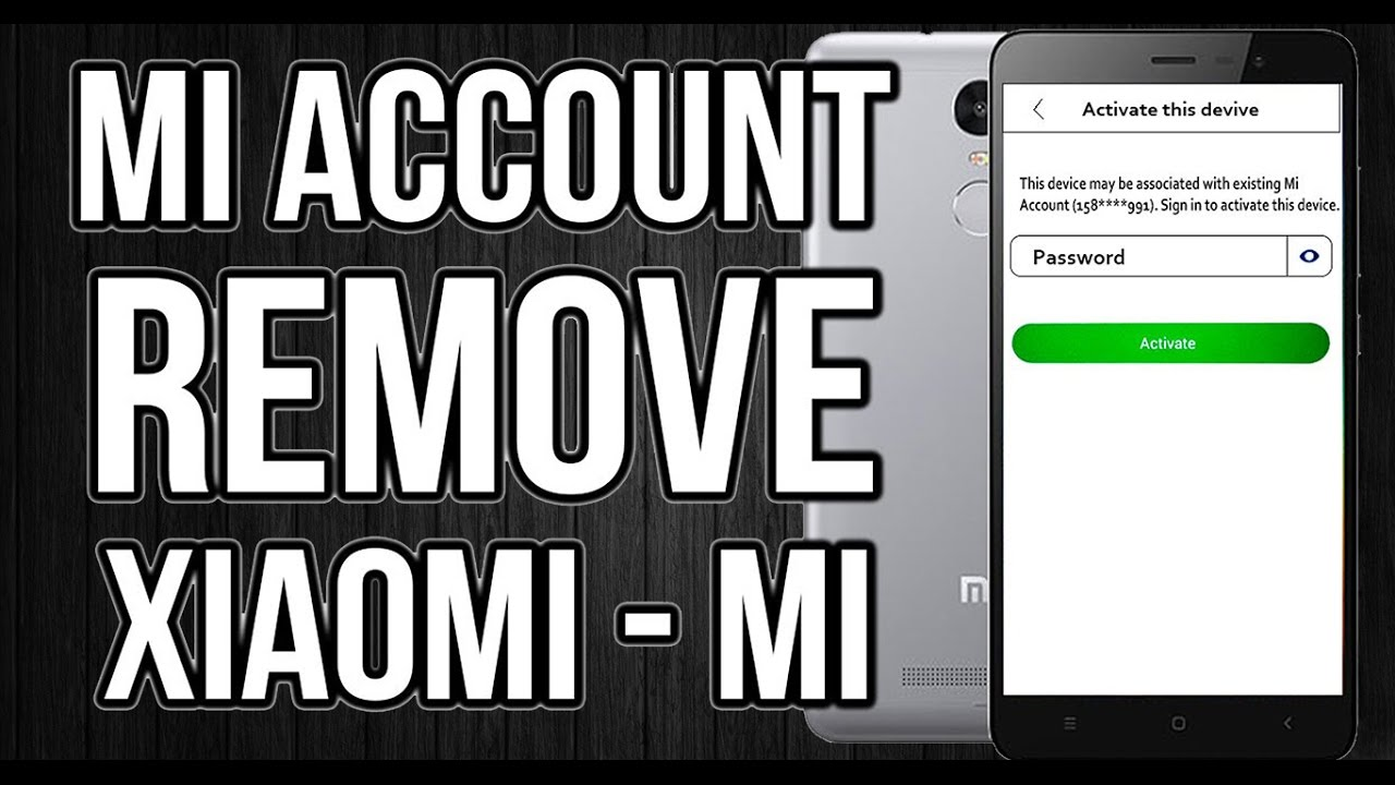 Why do I need a Mi account in Xiaomi phones Snap and unbind profile