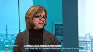 Verena Schäfer-Nerlich vor der Rede von Angela Merkel zur Zukunft Europas am 13.11.18