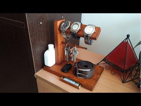 DIY men's desk organizer