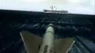 "Ataque  al portaviones ""HMS INVENCIBLE"" Attack on British aircraft carrier ""HMS Invincible""."