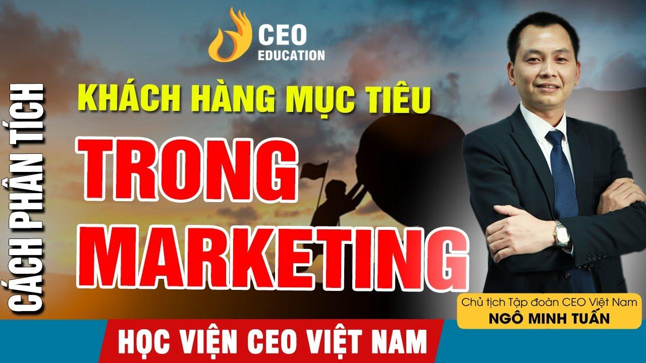 Cách Phân Tích Khách Hàng Mục Tiêu Trong Marketing ? | Ngô Minh Tuấn | Học Viện Ceo Việt Nam