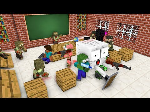 Monster School : ZOMBIE APOCALYPSE ATTACK - Minecraft Animation