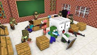 Monster School  ZOMBIE APOCALYPSE ATTACK - Minecraft Animation