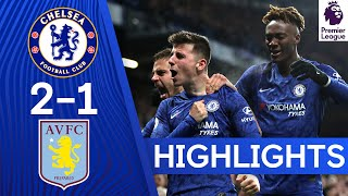 Chelsea 2-1 Aston Villa  Mount39s Stellar Volley amp Abraham39s Return Bring Home the Win  Highlights