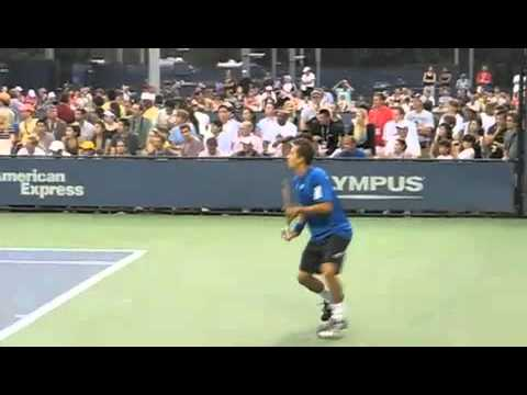One-handed backhands of the ATP at the 2010 US Open