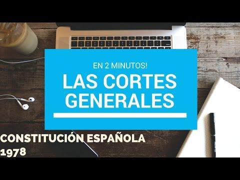 LAS CORTES GENERALES. TÍTULO TERCERO CONSTITUCIÓN ESPAÑOLA 1978. en 2 minutos!