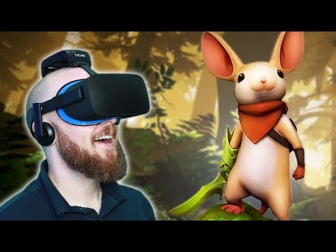 AWESOME VIRTUAL REALITY PLATFORMER!! Moss VR Oculus Rift Gameplay