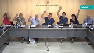 Ajuntament de Calafell: sessió plenària ordinària, 4 de setembre de 2017