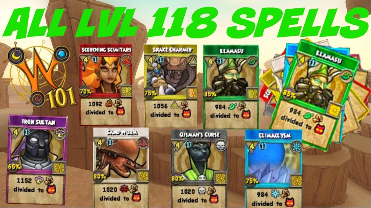 Wizard101 Balance Spells Level