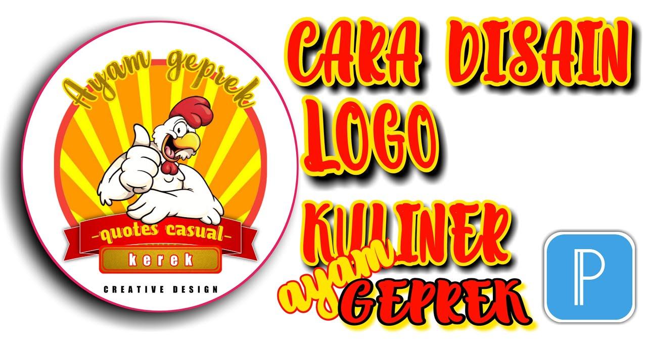 Cara membuat logo untuk bisnis kuliner online || tutorial ...