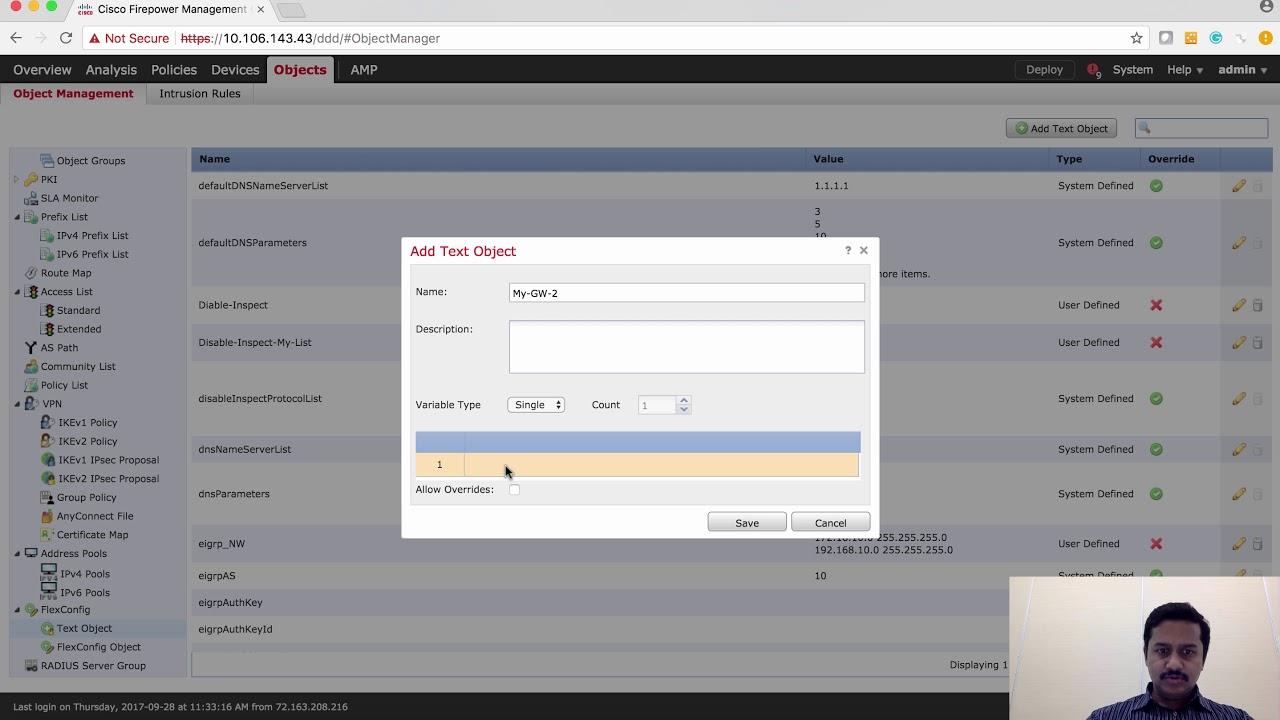 Cisco FMC FlexConfig configuring PBR