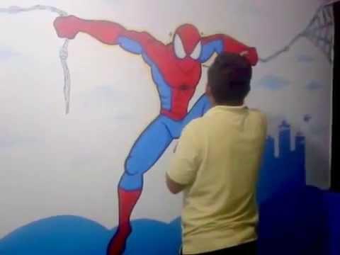 Decoracion de cuartos peque os para ni os superheroes for Cuartos decorados hombre arana