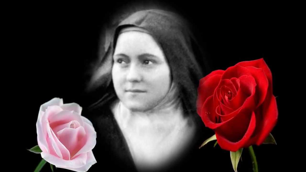 St therese and roses