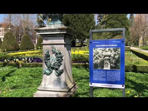 Kaiser Wilhelm Denkmal Palme Und Garten Friedrichshafen Bodensee