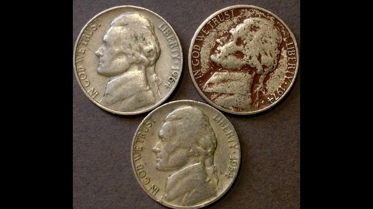 1954-D, 1964-D, 1974 Jefferson Nickels - YouTube