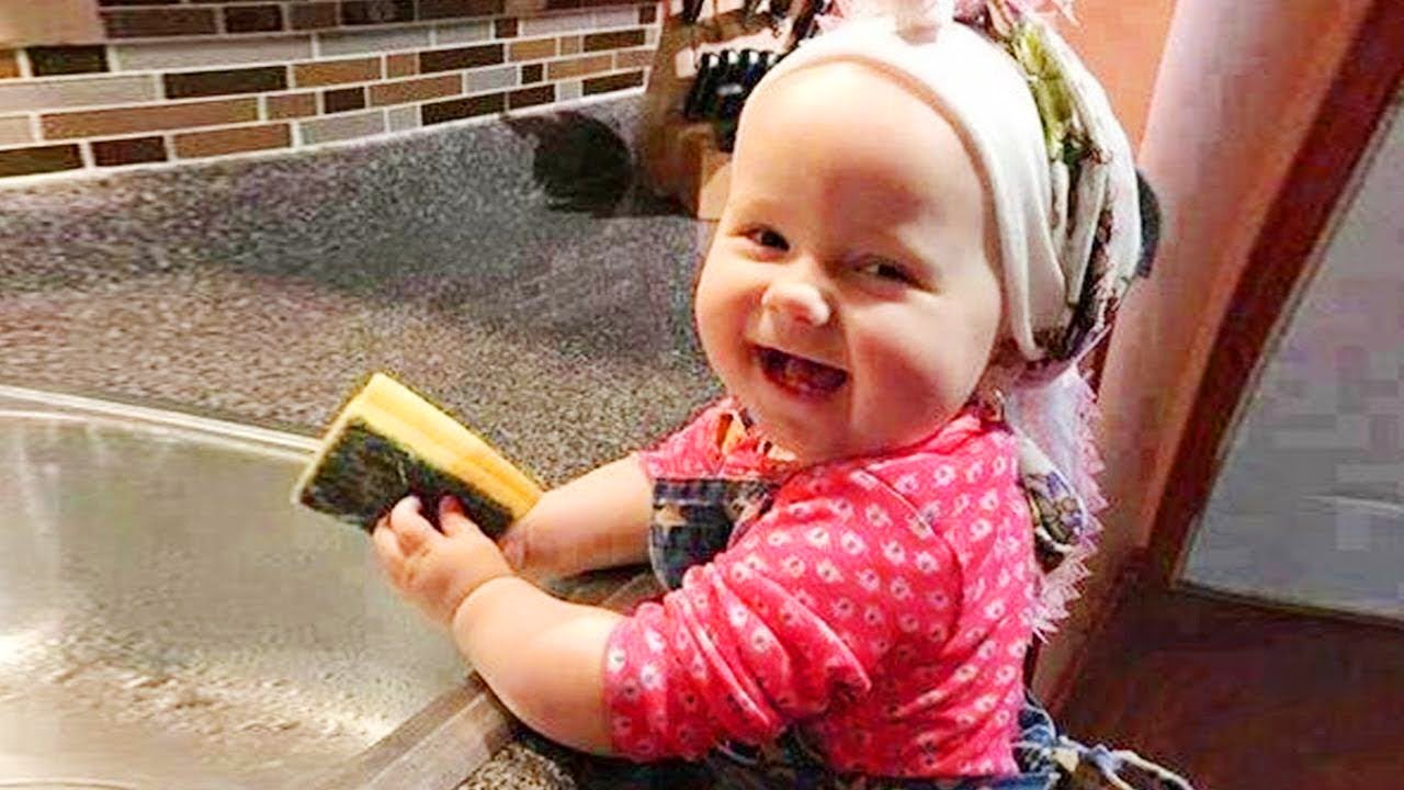 Cutest Babies Trying to Help Mommy in Housework 😱 Funny and Cute Baby Video