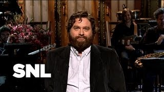 Zach Galifianakis Monologue: Monologue of Song - Saturday Night Live