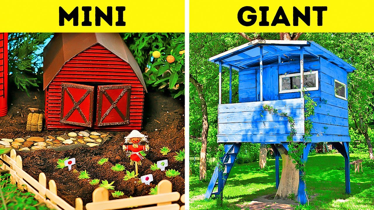 MINI VS. GIANT || Fantastic DIY Projects With Epoxy And Wood