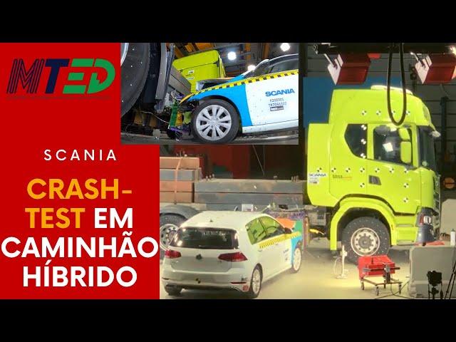 SCANIA FAZ CRASH TEST EM BATERIA DE CAMINHÃO HÍBRIDO - MTED