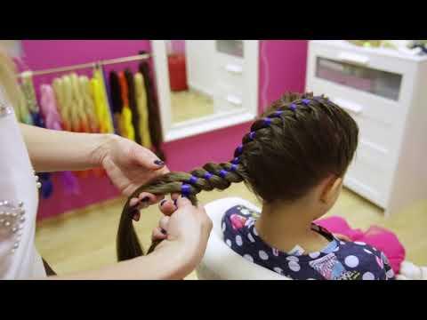 Обучение плетению! урок №3 Коса с одной лентой или четырехпрядная коса