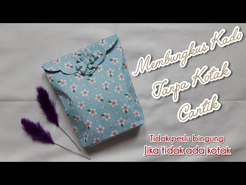 Cara Membungkus Kado Tanpa Kotak | How To Do Gift Wrapping Without A Box | Easy Gift Wrapping
