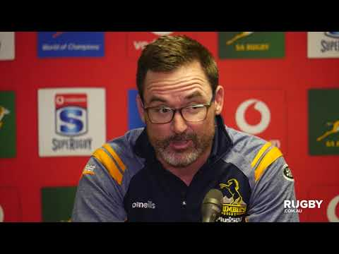 Super Rugby 2019 Round 10: Brumbies press conference