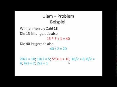 Ulam Problem Syrakus Problem Zahlenspiel Collatz Problem Ulam Algorithmus Visual Basic