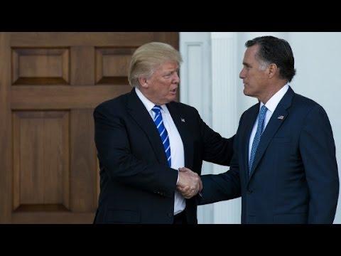 Trump & Romney meet; as Trump mulls picks