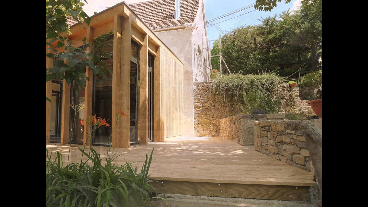 Extension Maison Bois Kit - EXTENSION A OSSATURE BOIS MAISON FERME LOTOISE YouTube