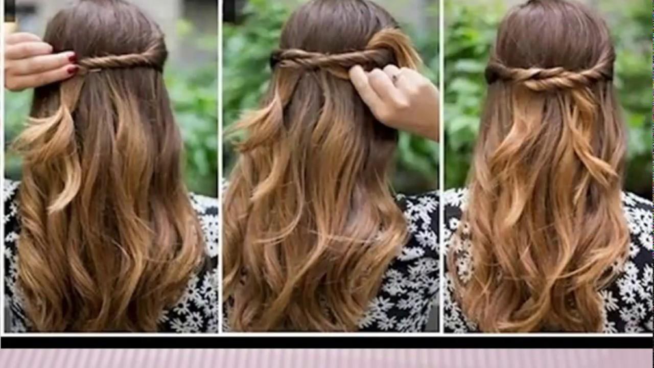 Peinados f ciles y bonitos para el d a a d a peinados paso a paso para hacer tu misma youtube - Peinados para hacerse una misma ...