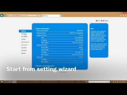 Ginlong PV grid-tie inverter wifi stick setup - YouTube