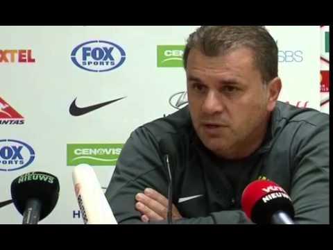 Socceroos coach Ange Postecoglou ready to take on Belgium