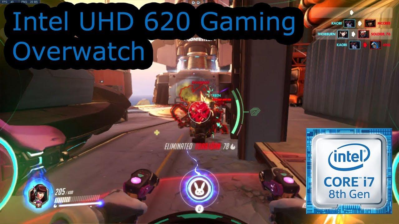 Intel UHD 620 Gaming - Overwatch - i5-8250U, i5-8350U, i7-8650U, i7-8650U