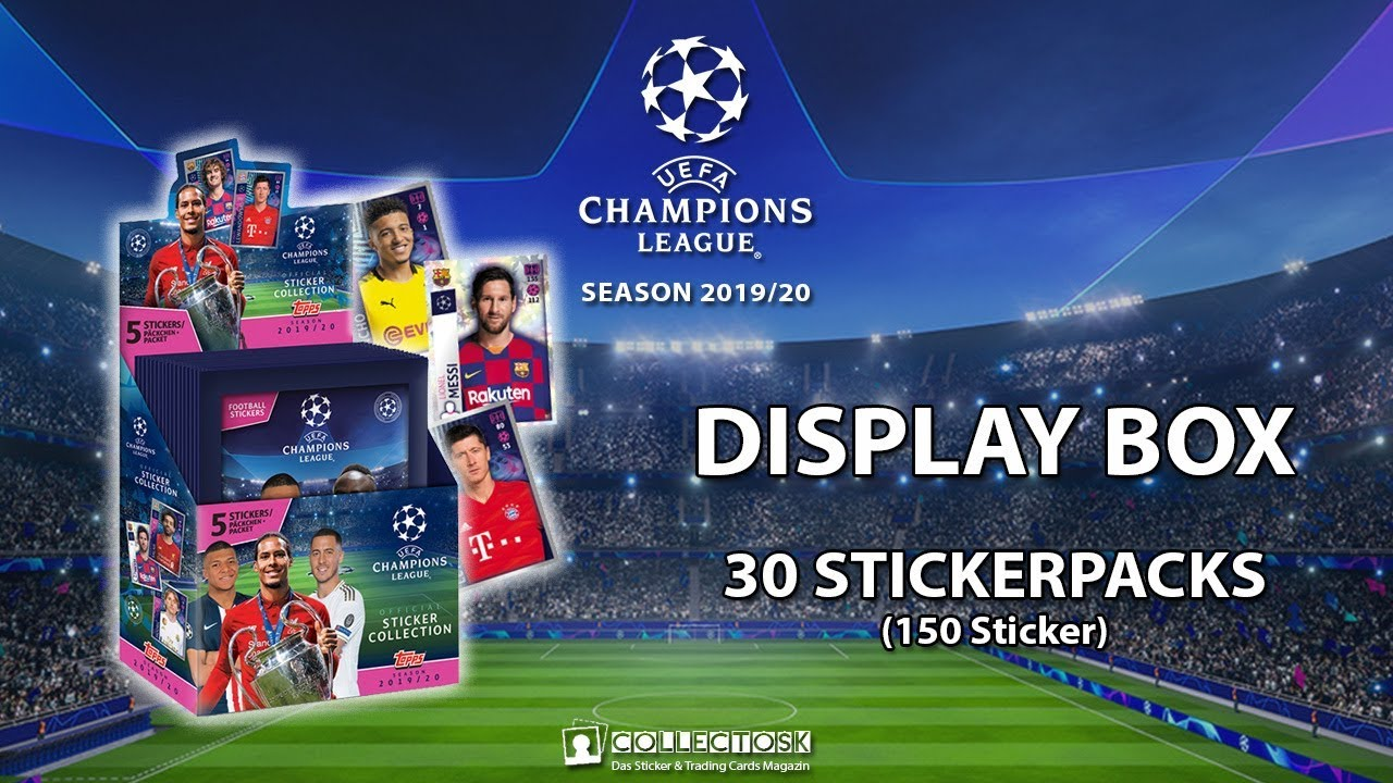 starter Trading Cards Display Topps Ligue des Champions 2019//20