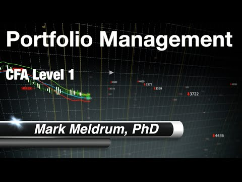 6.  CFA Level 1 Portfolio Management  - Risk Management - LOSa Part 1
