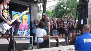 Cutest marriage proposal at We Came As Romans in Montreal
