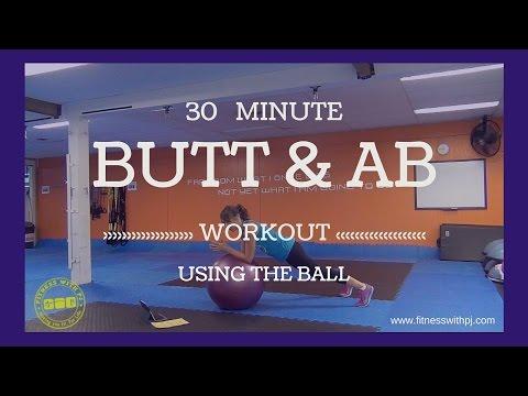 Butt & Ab Workout using an exercise ball