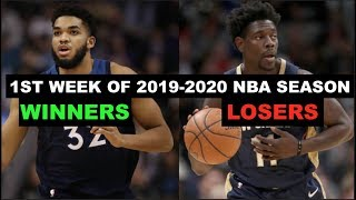 The Winners and Losers Of The 1st Week Of The 2019-2020 NBA Season