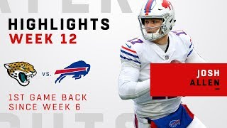 Josh Allen Highlights from 1st Game Back Since Week 6