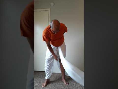 How to wear Haryanvi Dhoti