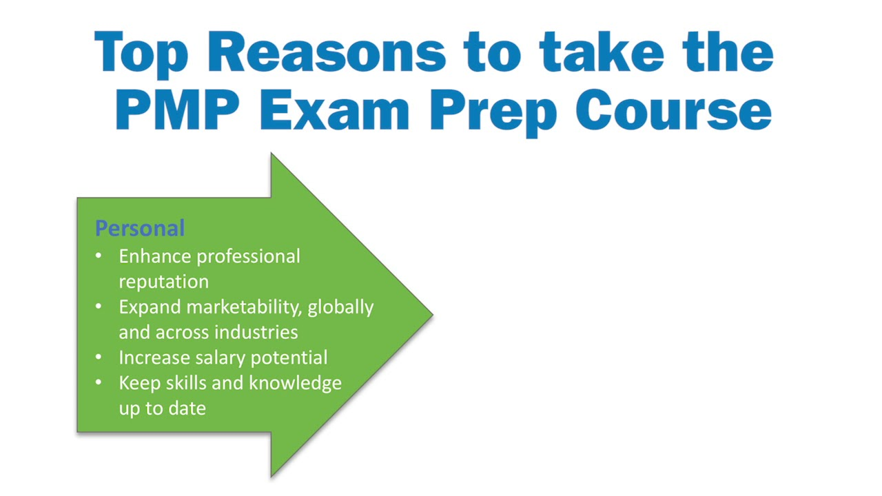 Top Reasons To Take The Pmp And Capm Exam Prep Course Youtube