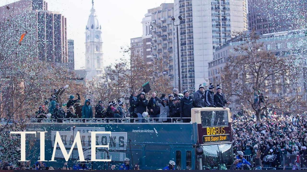 The Philadelphia Eagles Cele Te Their Super Bowl Lii Win With A Parade In Philly Time