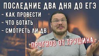 ✓ Последние два дня до ЕГЭ: прогнозы; смотреть ли вариант ДВ? | трушин ответит #090 | Борис Трушин